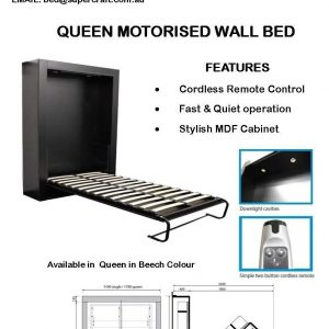 Electrically Operated Wall Bed